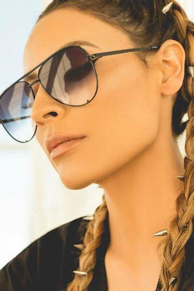fashion flat top aviator glasses Black women's sunglasses 2017 brand designer oculos aviador mirror shades sun glasses female