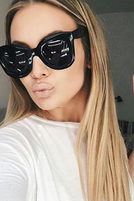 Fashion Cat Eye Sunglasses Women Brand Designer Vintage Gradient Cat Eye Sun Glasses Shades