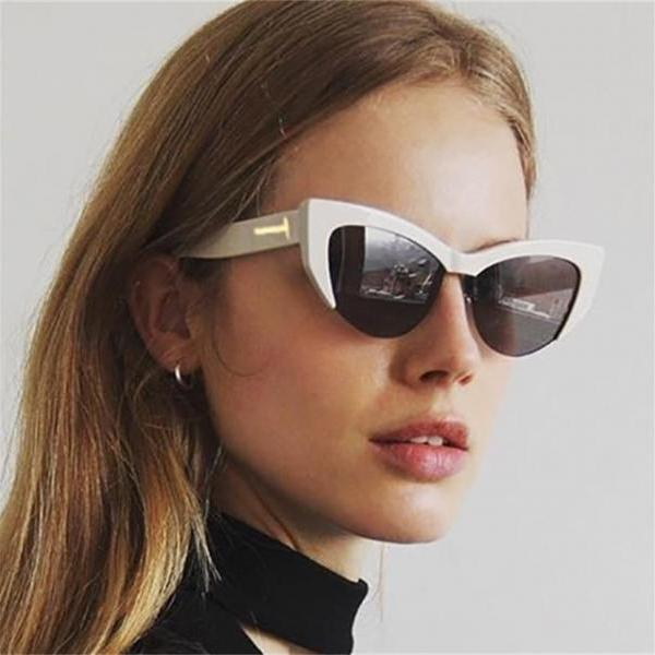 Sunglasses Woman T Brand Retro Shades Points big cat eye Sun Glasses For men Ladies Female